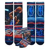 Oklahoma City Thunder Youth Size NBA Hardplay Kids Socks (4-8 YRS) 1 Pair - Russell Westbrook #0