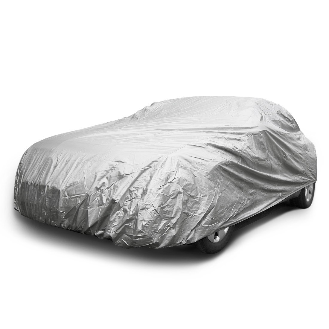 COPAP Car Cover Nylon Fabric Size XL Paint Safe Universal Full Size Sedan Fits up to 190' Waterproof & Dustproof UV Resistant (Storage Bag included) M&L