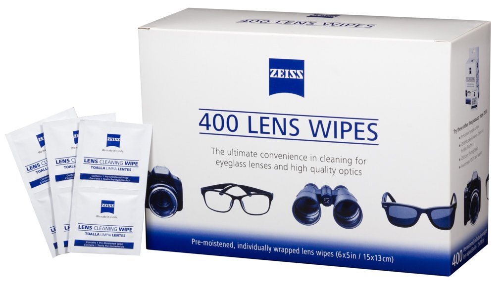 Zeiss Pre-Moistened Lens Cleaning Wipes, 6 x 5-Inches (400-Count)