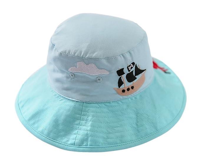 Happy cherry Azul Sombrero Infantil Cartoon Gorra UV Protección Solar  Reversible Verano Bucket Hat para 6 Meses - 6 Años Bebés Niños  Amazon.es   Ropa y ... c4103496961