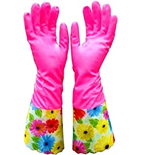 Cute Cleaning Gloves Kitchen Gloves VANORIG Thickening Waterproof Dish  Washing Gloves Household Gloves With Lining,