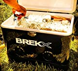 BREKX 54QT Black Party Cooler with High Powered Bluetooth Speakers