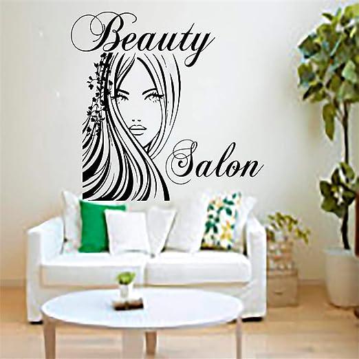Salón de belleza pegatinas de pared calcomanía salón de peluquería ...