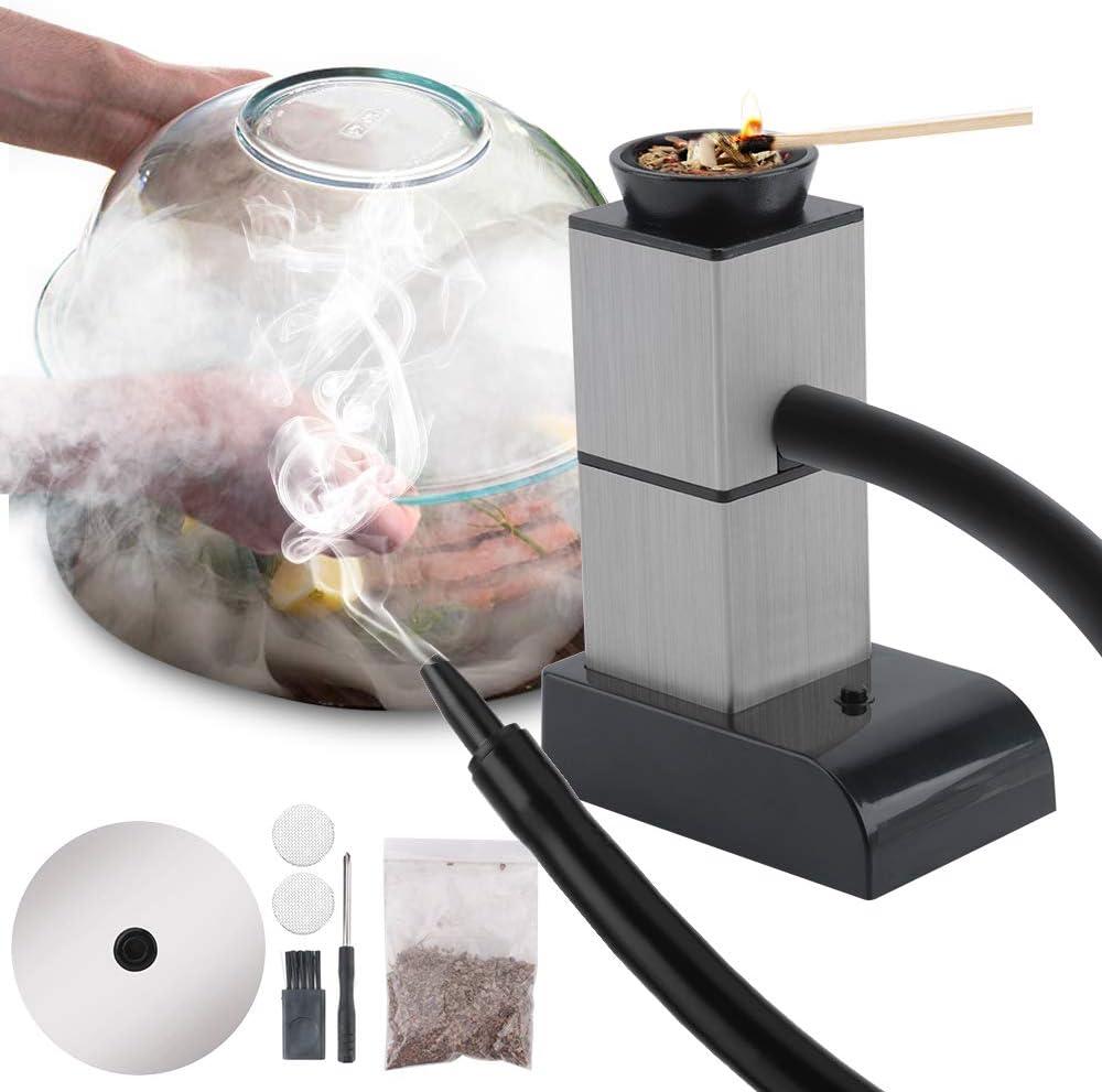 FrideMok - Pistola de Fumador portátil para Fumar de Alimentos, Creativa, Fumador de Bolsillo, Mini Herramientas de Cocina con Cubierta de Humo para Carne, cócteles, Queso, Barbacoa, al vacío, Frutas