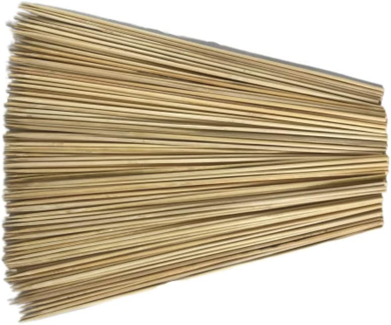 Wood Skewers 12 inch - 160 Pack Bamboo for BBQ, Shish Kabob, Grill, Chocolate Fountain, Fondue, Craft, Hobby - Sturdy All Natural Wooden Sticks - Sensational Skewers 14 Grilling Tips Card Included