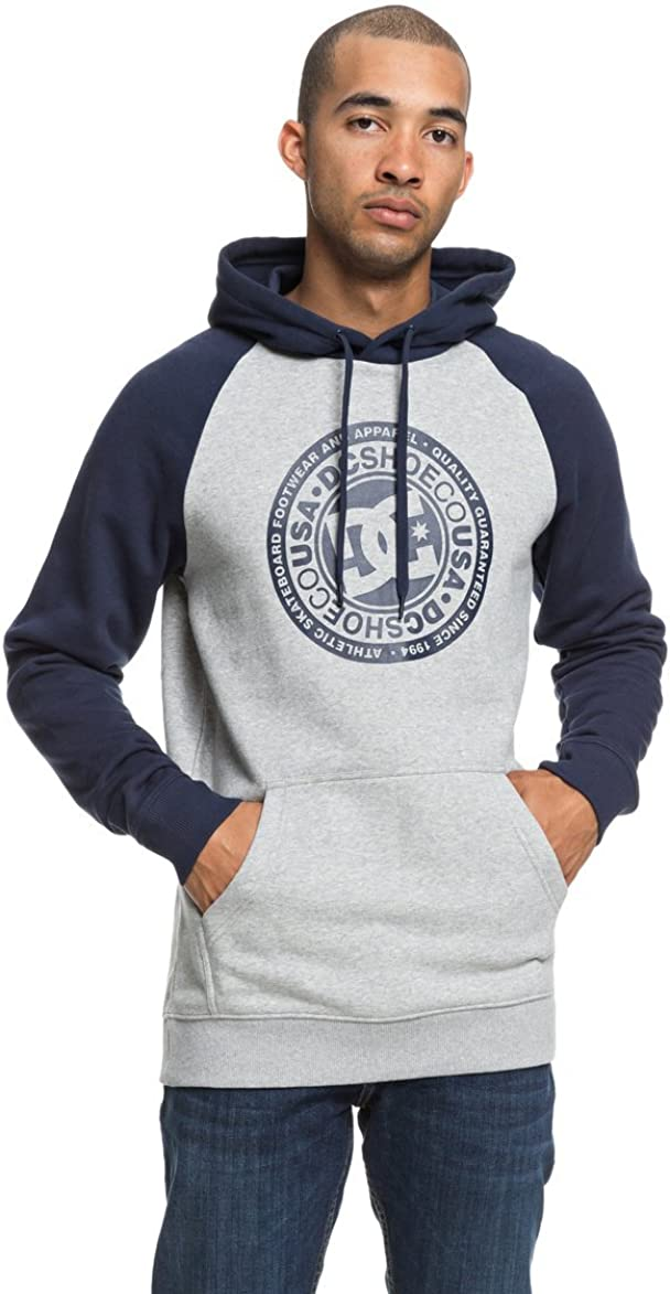 TALLA FR : S (Taille Fabricant : S). DC Shoes Circle Star Sudadera, Hombre