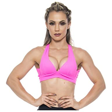 pink workout bra