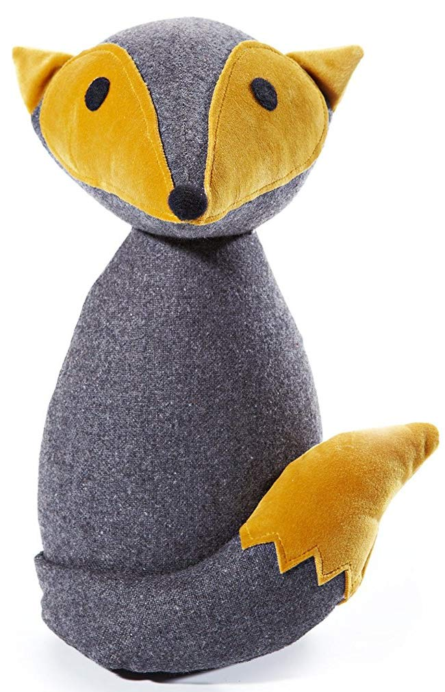 for inside made of felt with heavy filling window stopper decoration grey HEITMANN DECO doorstop fuchs yellow