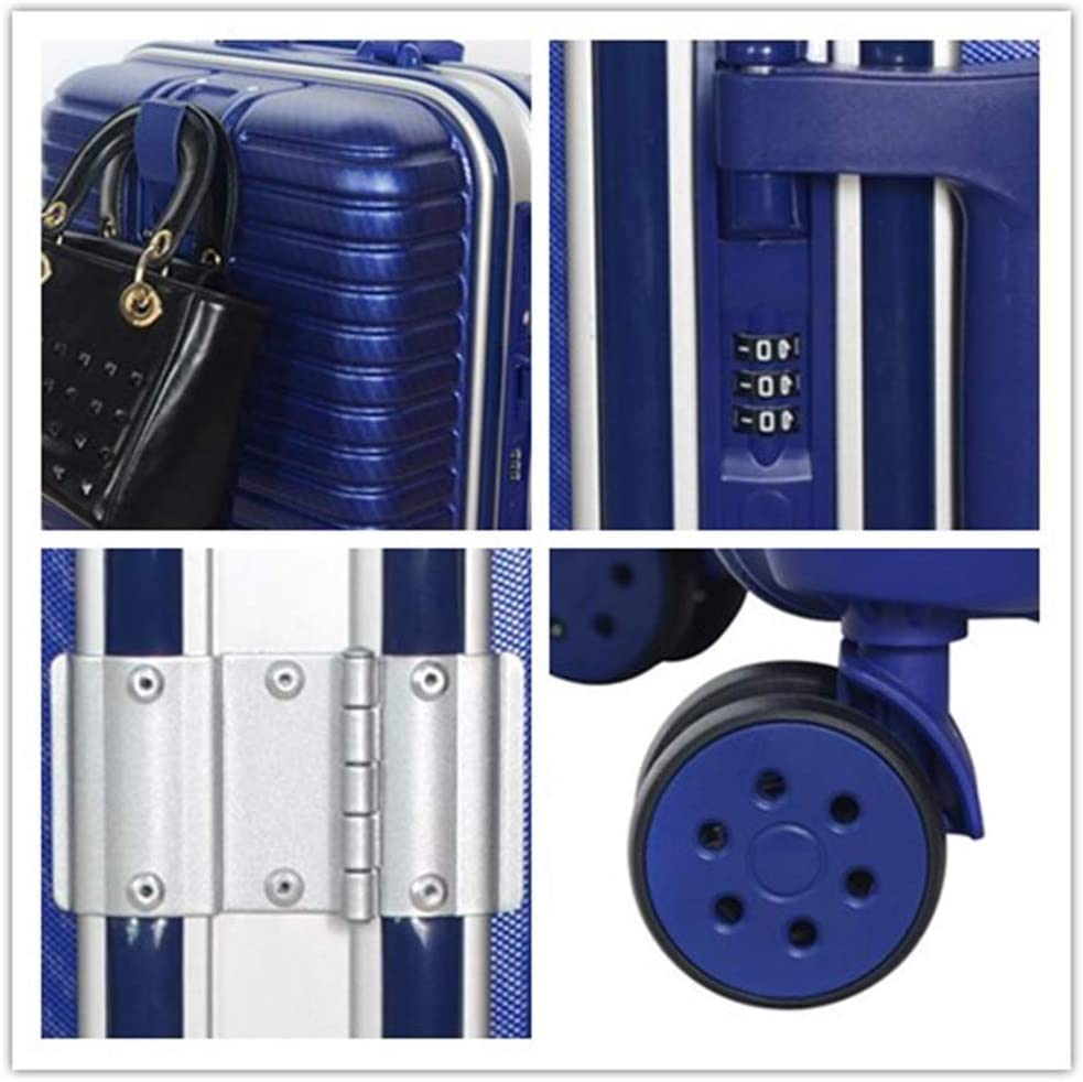 Color : A, Size : 356543cm Qzny Suitcase Trolley Case Holdall Suitcase Boarding The Chassis Holiday Business Trips Large Capacity Unisex Waterproof Travel Bag