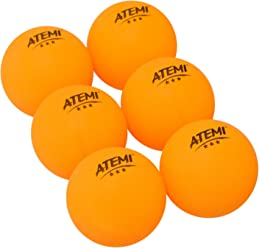 Atemi 3-Star Table Tennis Balls (6-Pack) Pro 40mm Regulation | Indoor/Outdoor Use | Standard Ping Pong Set | Improved Rebound, Roundness, Hardness | Orange or White