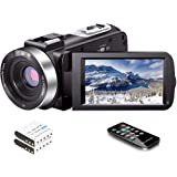 Video Camera Camcorder Full HD 1080P 30FPS 24.0 MP IR Night Vision Vlogging Camera Recorder 3.0 Inch IPS Screen 16X Zoom Camc