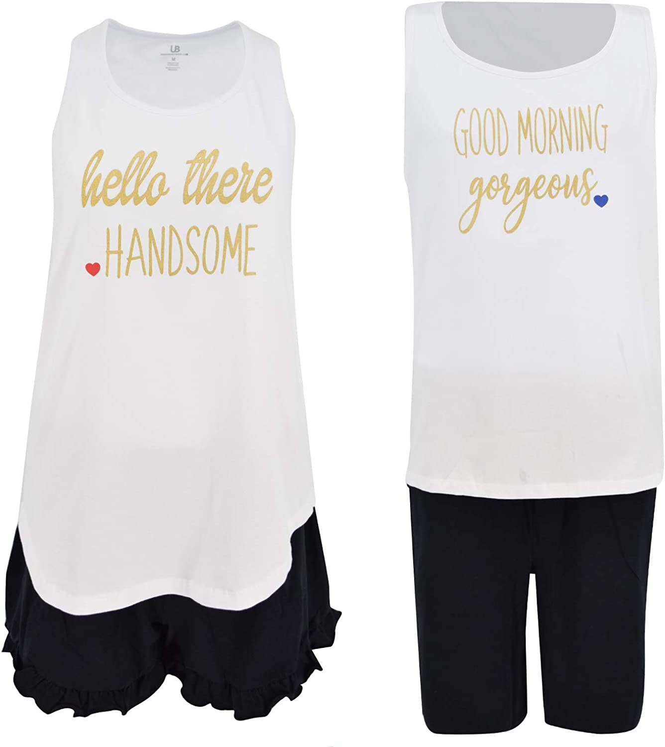 Unique Baby Hello Handsome His and Hers V-Day Pajama Set