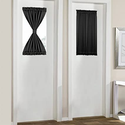 Amazon Panovous French Door Curtains Attractive Black Blackout