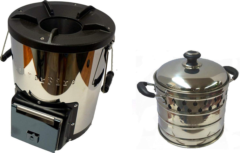 NJ-COMMERCE LTD Silverfire - Cocina portátil para ...