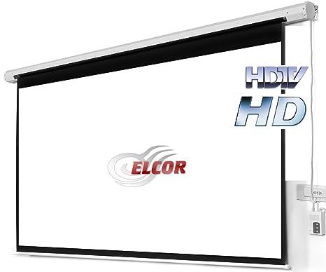 Elcor Motorised Projector Screens 92 Diagonal In Amazonin Electronics