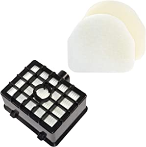 HQRP Filter Kit (HEPA + Foam&Felt) for Shark Rotator XHF450 XFF450 Replacement fits Shark Rotator NV450 / Shark Rocket NV480 Series Professional Upright Vacuum Cleaners Coaster