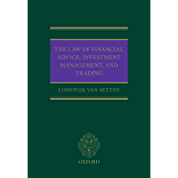 Image for The Law of Financial Advice, Investment Management, and Trading