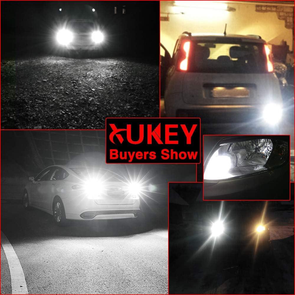 2X Car LED DRL Tail Backup Reverse Lights 1156 BAU15S PY21W Bulbs White 12V 6W