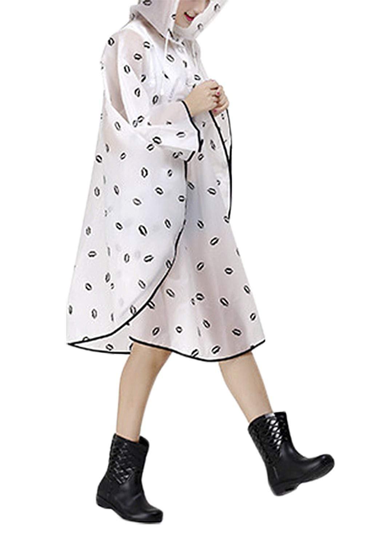 Mujer Poncho lluvia impermeable con capucha port/átil abrigo impermeable Impermeable y Transpirable Con chubasquero moderno con Capucha Chubasquero Impermeable ropa de lluvia para bicicleta o moto