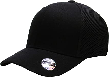 f1605ed0e73 KBE-AIR FIT BLK S M Blank Stretch Cotton Twill Fitted Hat Spandex Headband