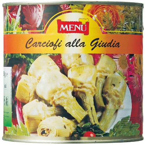 Whole Artichokes with Stems, Marinated in Oil with Herbs - 1 can - 5.6 lbs by Menu