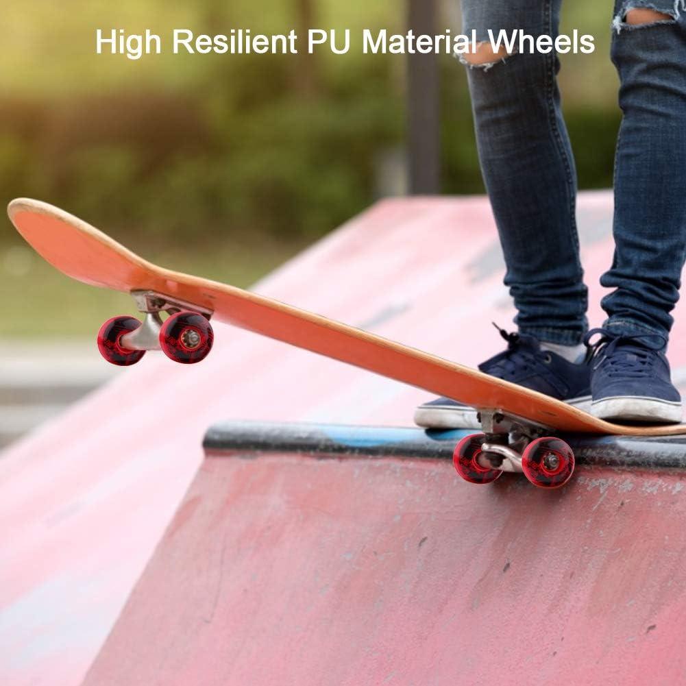 Alomejor 4 St/ücke//Set Skateboard R/äder Outdoor Classic 52mm x 30mm PU Cruiser Longboard Skateboard Ersatzradsatz