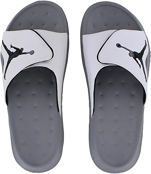 4b71402749c0b5 Nike Men s JORDAN RCVR SLIDE SELECT SANDALS 8 Men US (WHITE BLACK STEALTH.  Back. Double-tap to zoom
