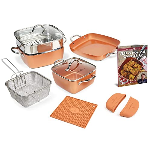 Red copper square pan