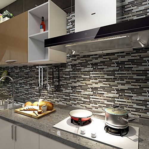 Art3d 12 x12 self adhesive wall tile peel and stick for Ver ceramicos para cocina