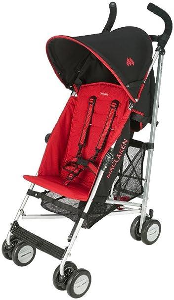 Amazon Com Maclaren Triumph Stroller Black Scarlet Discontinued