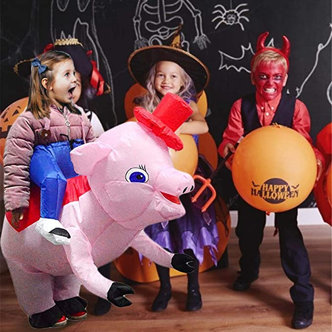 Bettying - Disfraz de Cerdo Hinchable para Adultos y niños ...