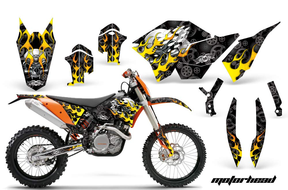 Motorhead Black AMR Racing MX Graphics kit Sticker Decal Compatible with KTM 250 SX 2007-2010