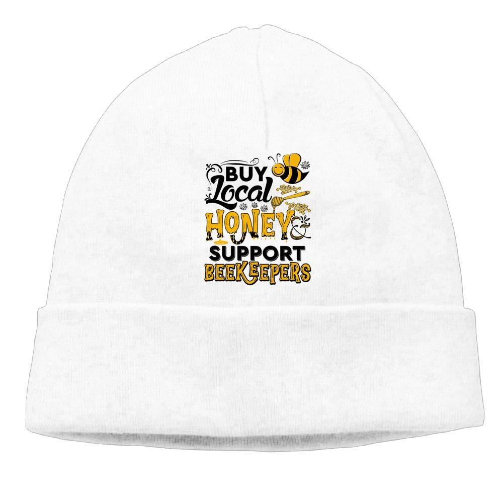 Poii Qon Beanies Hats Buy Local Honey bee Knit Cap for Woman Man