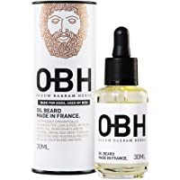 Huile à Barbe 100% Naturelle OBH ® ● Made in Provence - France ● Soin Premium pour Homme ● Tous les éléments indispensables pour une barbe parfaite ● Parfum boisé et Léger