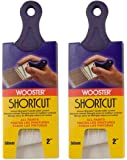 Wooster Brush Q3211-2 Shortcut Angle Sash Paintbrush, 2-Inch, White 2 Pack