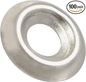 Box of 100 # 8 Stainless Steel Countersunk Finishing Washers