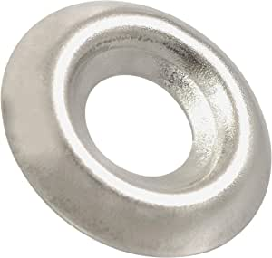 304 SS Finishing Cup 100 Qty #12 Stainless Steel Countersunk Finish Washers BCP576