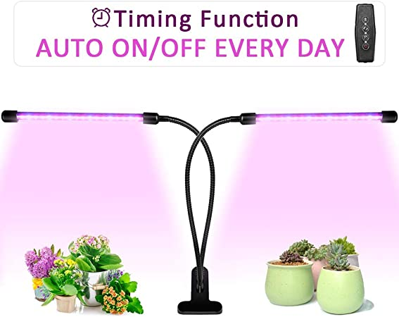 Ankace 36 LED 5 Dimmable Levels for Indoor with Plant Grow Lights 18W Dual Head