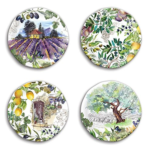Michel Design Works SWPS283 Melamine Accent Plates, Campagna