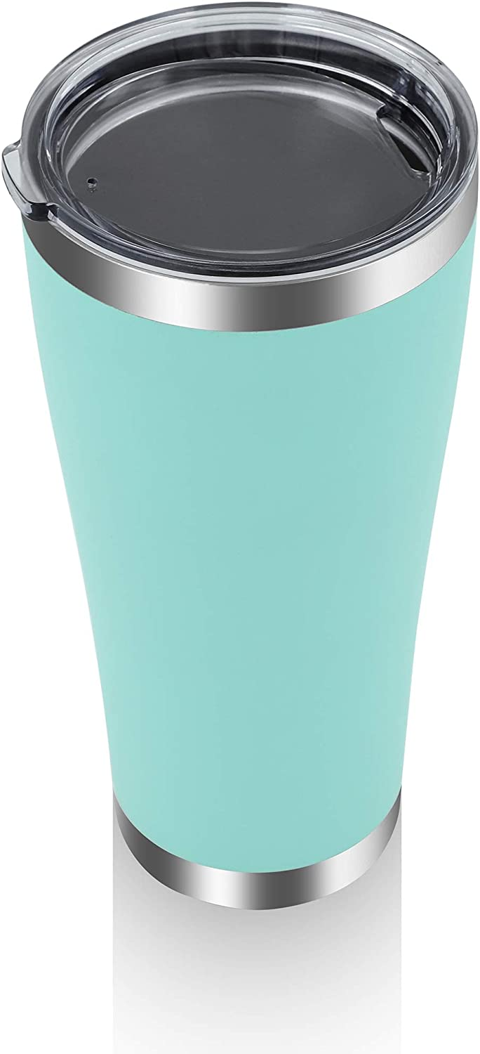YESSIR 32oz Stainless Steel Tumbler 1 Pack Gifts In Bulk,Reusable Double Wall Vacuum Insulated Travel Mugs with Lid, Coffee Cups for Hot Beverage Water Bottle Gift for Man (Light Green,1)