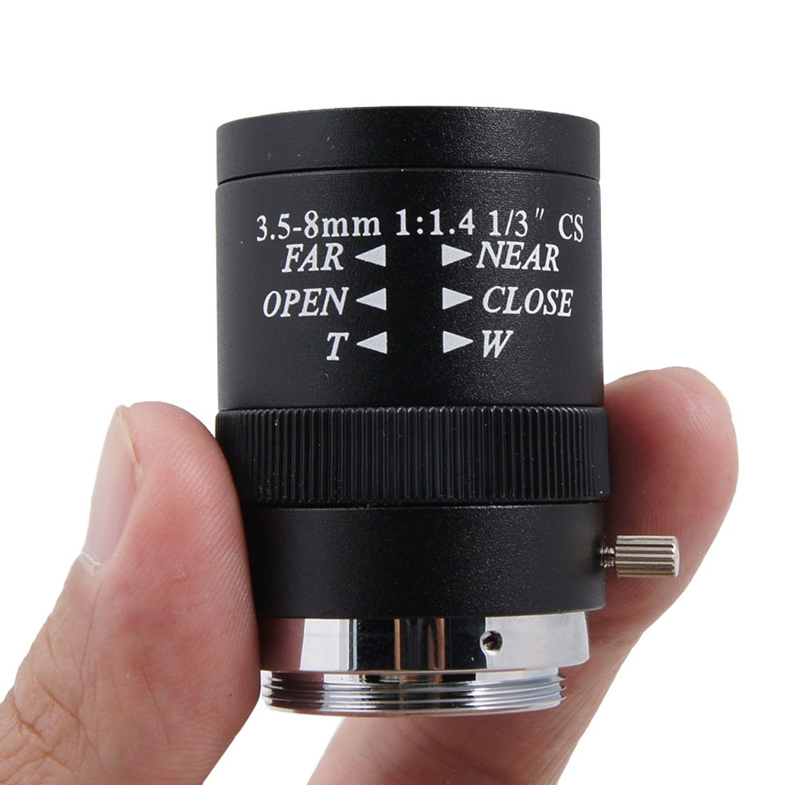 sourcingmap/® CCTV Camera Replacement F1.4 Monofocal Manual Iris Lens