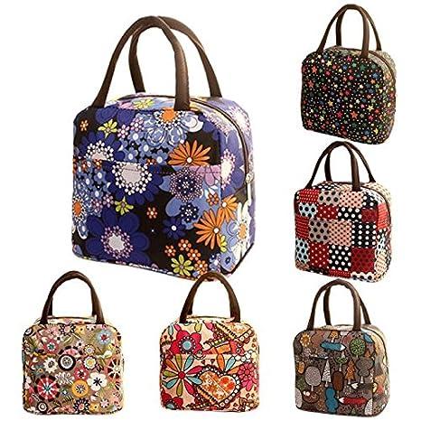 Bolsas de almuerzo, Termal aislados Tote Picnic almuerzo Cool Bolsa nevera caja bolso bolsa LMMVP (B, 32*22*10cm): Amazon.es: Hogar