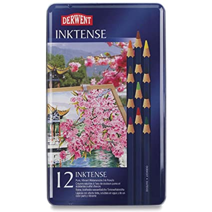 Derwent Inktense Pencil Set Assorted Color 12 Tin