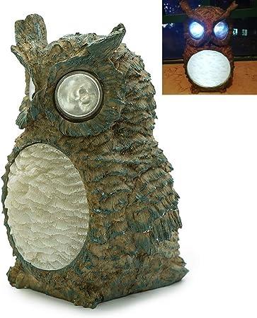 Solar Garden Lights Owl Ornament Animal Bird Outdoor LED Decor Sculpture Novelty