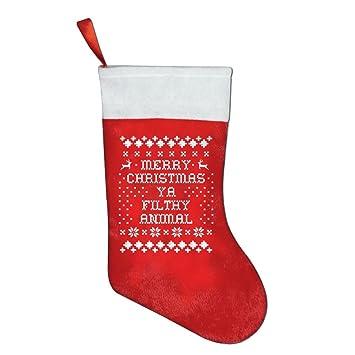 merry christmas ya filthy animal christmas stockings cool socks christmas