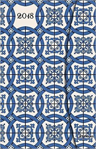 2018 Azulejos Diary - teNeues Large Magneto Diary - Illustrations - 10 x 15 cm