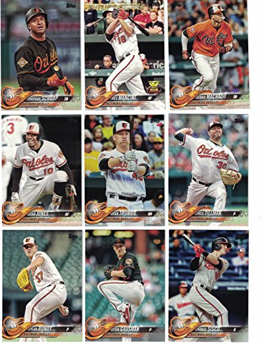 Baltimore Orioles / Complete 2018 Topps Series 1 Baseball 11 Card Team Set! Includes 25 bonus Orioles Cards!