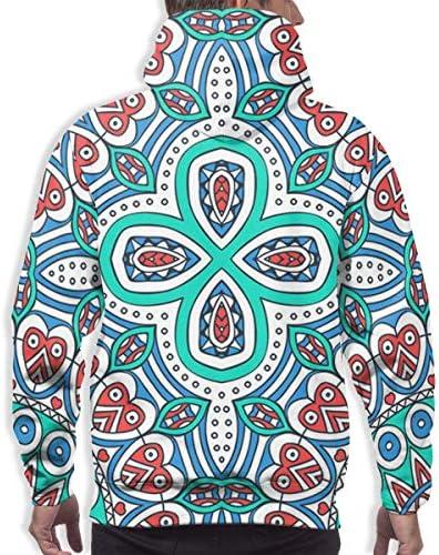 1Zlr2a0IG DIYHOME Autumn&Winter Men's Novetly Sweatshirt,Ethnic Style 3D Digital Printed Hoodies