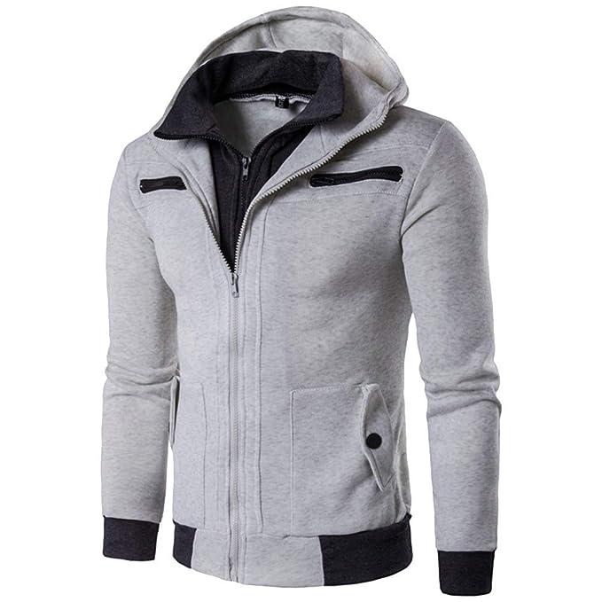 Yvelands Sudaderas para Hombre Active Sweatshirts, Sudadera con Capucha Full-Zip para Hombre con Forro Polar de Ecosmart, Sudadera con Capucha Heavy Fleece ...