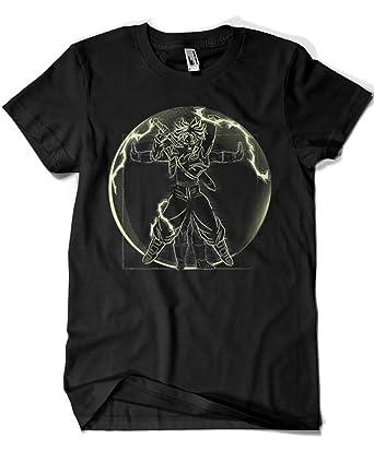 2605-Camiseta Vitruvian Saiyan (Trunks) - Dragon Ball (Samiel)